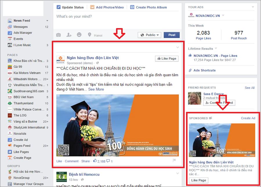 Quảng cáo Facebook - NOVAON ADS